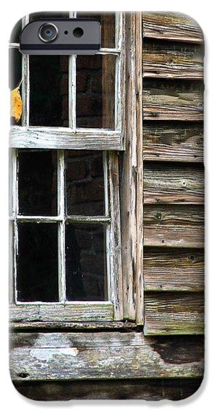 Cabin Window iPhone Cases - Autumn Cabin iPhone Case by Robin Erisman