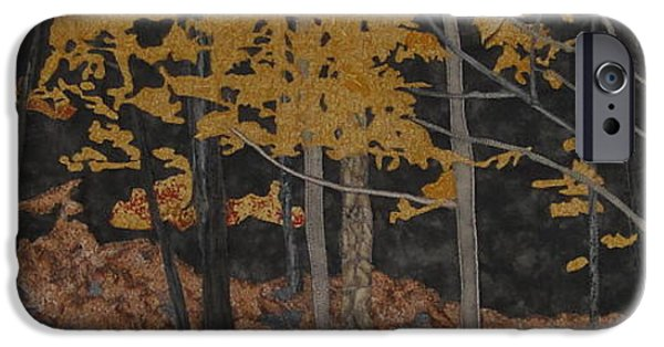 Fall Tapestries - Textiles iPhone Cases - Autumn Carpet iPhone Case by Anita Jacques