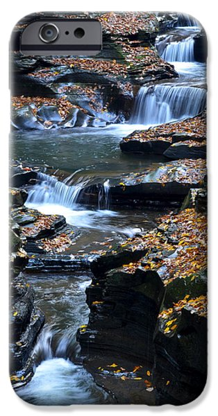 Unique View iPhone Cases - Autumn Cascade iPhone Case by Frozen in Time Fine Art Photography