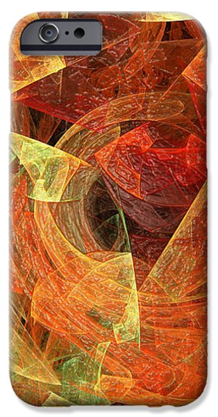 Abstractions iPhone Cases - Autumn Chaos iPhone Case by Andee Design