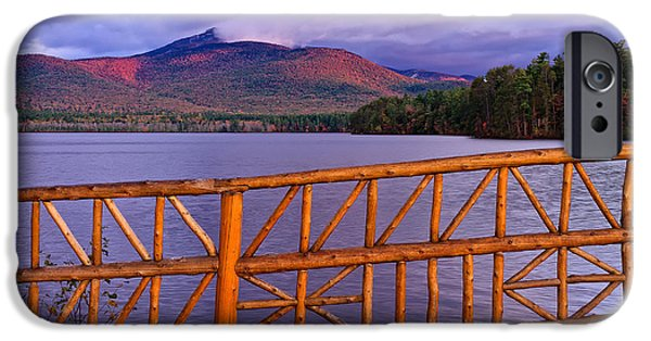 Mt Chocorua iPhone Cases - Autumn Chocorua iPhone Case by Jeff Sinon