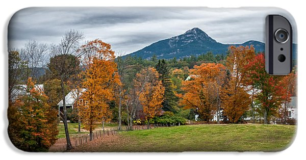 Mt Chocorua iPhone Cases - Autumn Chocorua iPhone Case by Scott Thorp