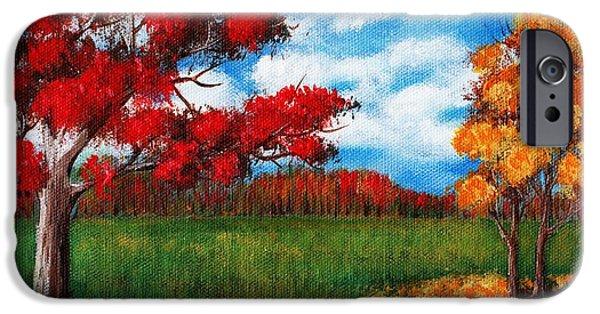 Canada iPhone Cases - Autumn Colors iPhone Case by Anastasiya Malakhova