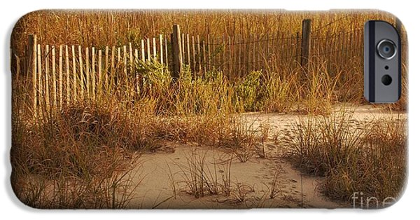 Interior Scene iPhone Cases - Autumn Colors At The Beach  iPhone Case by Bob Sample