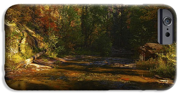 West Fork iPhone Cases - Autumn Colors by the Creek  iPhone Case by Saija  Lehtonen