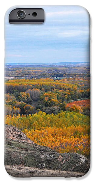 Autumn colors on the Ebro river iPhone Case by RicardMN Photography