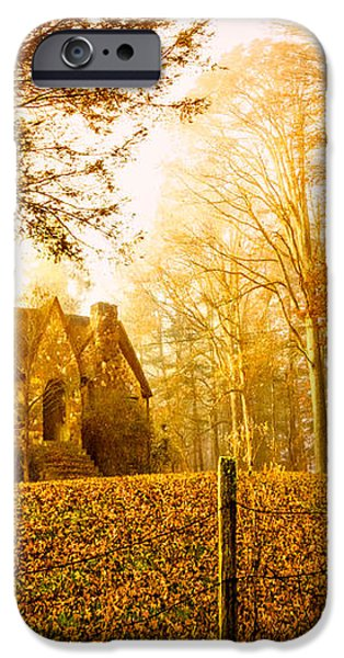Autumn Cottage iPhone Case by Debra and Dave Vanderlaan