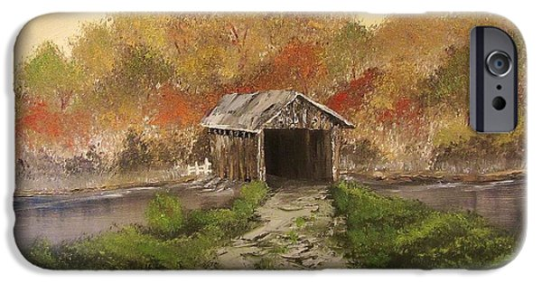 Bob Ross Paintings iPhone Cases - Autumn Crossing iPhone Case by Gavin Kutil