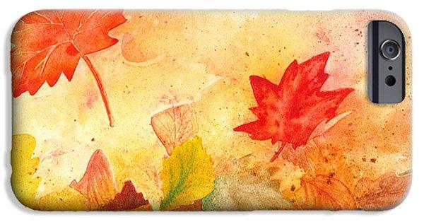 Fall iPhone Cases - Autumn Dance iPhone Case by Irina Sztukowski