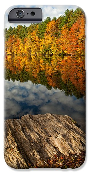 Autumn iPhone Cases - Autumn Day iPhone Case by Karol  Livote