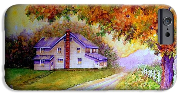 White House iPhone Cases - Autumn days down the lane iPhone Case by Janine Riley