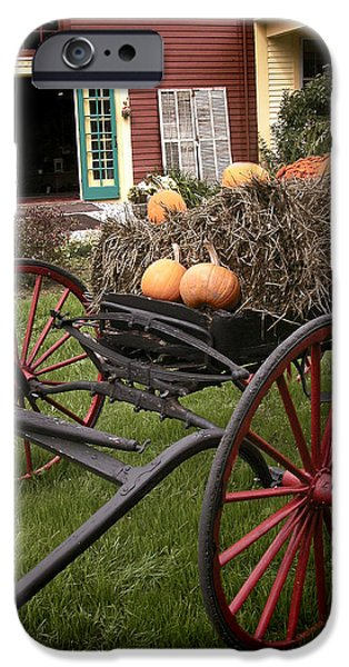 Old Barns iPhone Cases - Autumn Decor iPhone Case by Ray Summers Photography