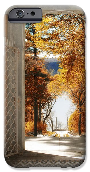 Hudson River Digital iPhone Cases - Autumn Entrance iPhone Case by Jessica Jenney