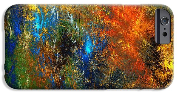 Abstract Digital iPhone Cases - Autumn Fantasy 1013 iPhone Case by David Lane