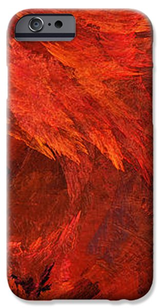 Abstract Digital Art iPhone Cases - Autumn Fire Pano 2 Vertical iPhone Case by Andee Design