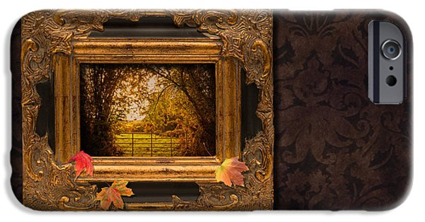 Interior Scene iPhone Cases - Autumn Frame iPhone Case by Amanda And Christopher Elwell
