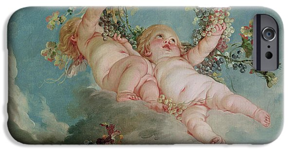 Wreath Paintings iPhone Cases - Autumn iPhone Case by Francois Boucher