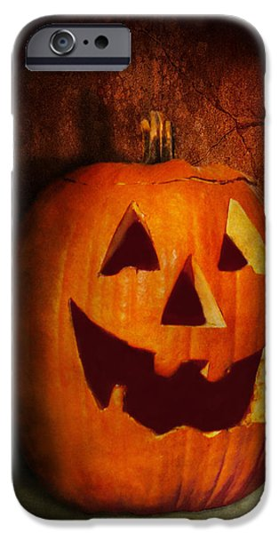Autumn - Halloween - Jack-o-Lantern  iPhone Case by Mike Savad