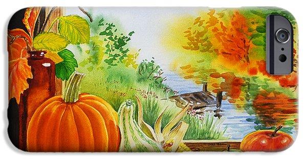 Gourds iPhone Cases - Autumn Harvest Fall Delight iPhone Case by Irina Sztukowski