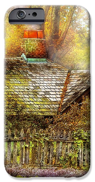 Autumn - House - On the way to grandma's House iPhone Case by Mike Savad