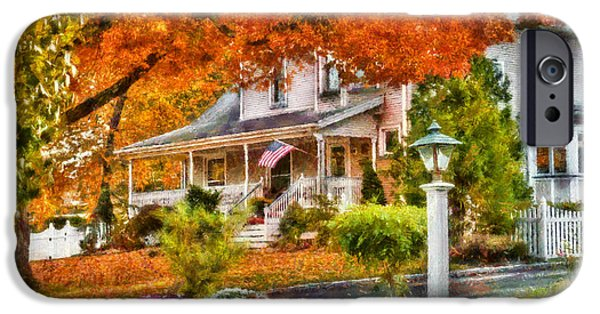 Rake iPhone Cases - Autumn - House - The Beauty of Autumn iPhone Case by Mike Savad