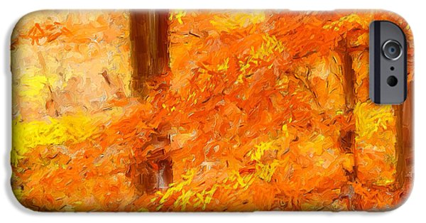 Pastoral iPhone Cases - Autumn Impressions iPhone Case by Lourry Legarde