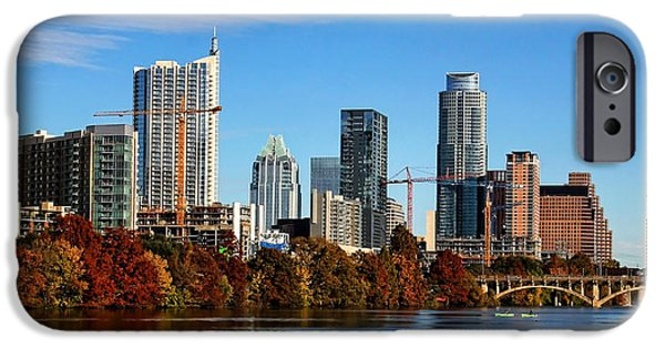 Town iPhone Cases - Autumn in Austin iPhone Case by Judy Vincent