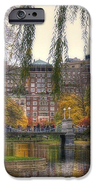 Autumn in Boston Garden iPhone Case by Joann Vitali