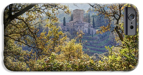 Chianti Landscape iPhone Cases - Autumn in Chianti iPhone Case by Eggers   Photography