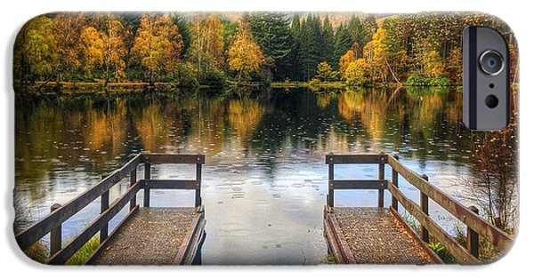 Beautiful Scenery iPhone Cases - Autumn in Glencoe Lochan iPhone Case by Dave Bowman