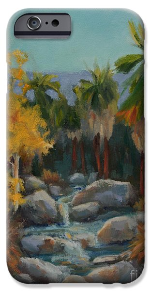 Business Paintings iPhone Cases - Indian Canyon After the Rain iPhone Case by Maria Hunt
