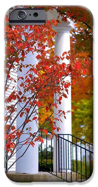Fall Scenes iPhone Cases - Autumn in Long Grove 2 iPhone Case by Julie Palencia