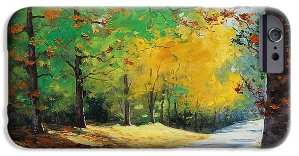 Fiery iPhone Cases - Autumn in Mt Wilson iPhone Case by Graham Gercken