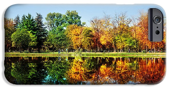 Autumn Landscape Photographs iPhone Cases - Autumn in October iPhone Case by Ivan Vukelic