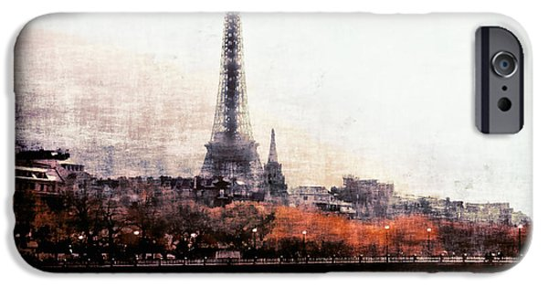 Covered Bridge iPhone Cases - Autumn in Paris iPhone Case by Barbara D Richards