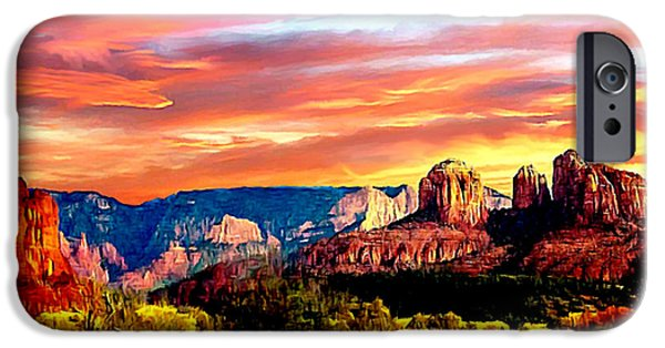 Oak Creek iPhone Cases - Autumn in Red Rock State Park iPhone Case by  Bob and Nadine Johnston