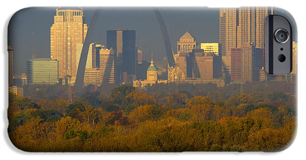 Autumn Landscape Pyrography iPhone Cases - Autumn in St Louis iPhone Case by Garry McMichael