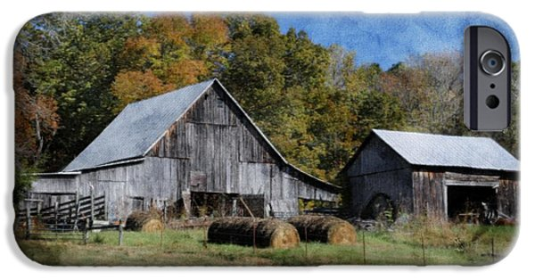 Tennessee Hay Bales iPhone Cases - Autumn in Tennessee iPhone Case by Benanne Stiens