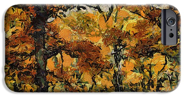 Asymmetrical iPhone Cases - Autumn In The Forest 04 iPhone Case by Thomas Woolworth