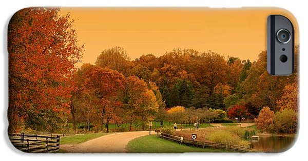 Autumn In The Country iPhone Cases - Autumn In The Park - Holmdel Park iPhone Case by Angie Tirado