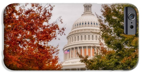 D.c. iPhone Cases - Autumn In The US Capitol iPhone Case by Susan Candelario