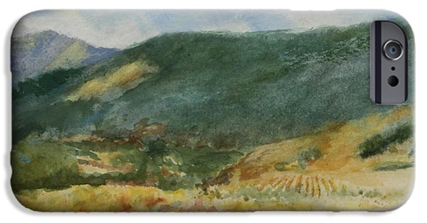 Autumn In The Country iPhone Cases - Laboring in the Vineyards  iPhone Case by Maria Hunt