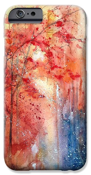 Autumn iPhone Cases - Autumn Intrigue iPhone Case by Bette Orr