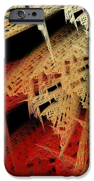 Abstractions iPhone Cases - Autumn Lace iPhone Case by Andee Design