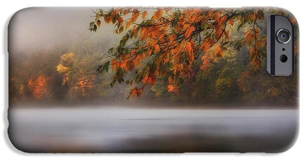 Autumn In New England iPhone Cases - Autumn Lake iPhone Case by Bill  Wakeley