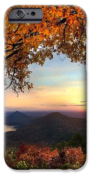 Autumn Lake iPhone Case by Debra and Dave Vanderlaan