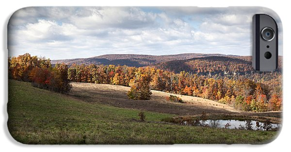 Arkansas iPhone Cases - Autumn Landscape with a Small Pond iPhone Case by Brandon Alms