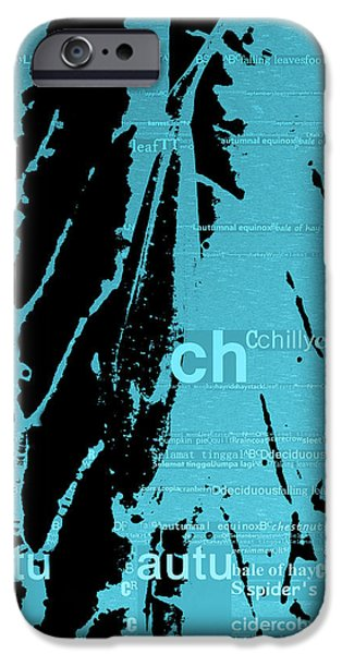 Copy Mixed Media iPhone Cases - Autumn leaves iPhone Case by Toppart Sweden