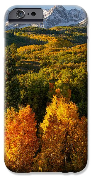 Photos With Red iPhone Cases - Autumn Light iPhone Case by Aaron Spong