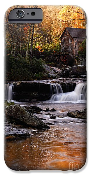 Grist Mill iPhone Cases - Autumn Light iPhone Case by Larry Ricker